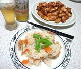 ジンジャーチキンとちらし寿司
