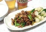 豚肉とエリンギと小松菜のオイスターソース炒め