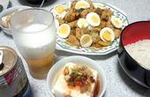 鶏肉とカボチャとジャガイモの中華炒め