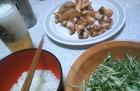 タコ唐揚げとたこ水菜サラダ