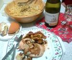 鶏のオーブン焼きとペペロンチーノ