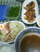 つけ麺&タコ唐揚げ