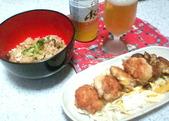 チキンナゲットと鶏炊き込みご飯
