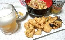 鶏フリッターとモヤシ丼