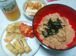 ホタテとエリンギの炊き込みご飯