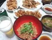 たこ飯とタコ唐揚げ