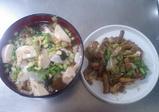 鯛茶と炒め物