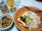 西京焼き&3種豆炊き込みと煮物