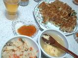 餃子と中華炊き込み