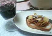 チリビーンズと赤ワイン