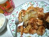 鶏ピカタと鶏オリーブオイル焼き