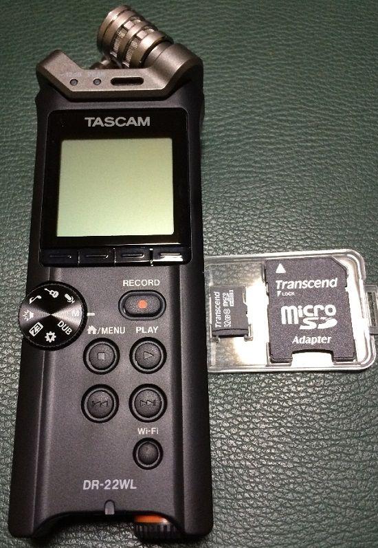 リニアPCMレコーダーTASCAM DR-22WLを購入1