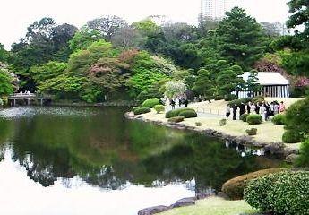園遊会が催された赤坂御苑