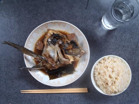 0174クロデエのサシミ、シオヤキ、カブト煮
