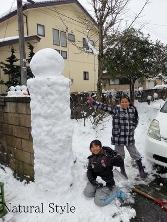 雪玉作り5