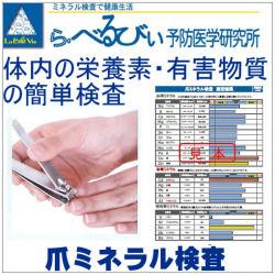 あさイチ放送 爪ミネラル検査