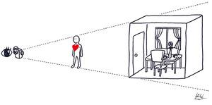こころと部屋の関係イラスト