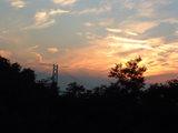 橋と夕焼け