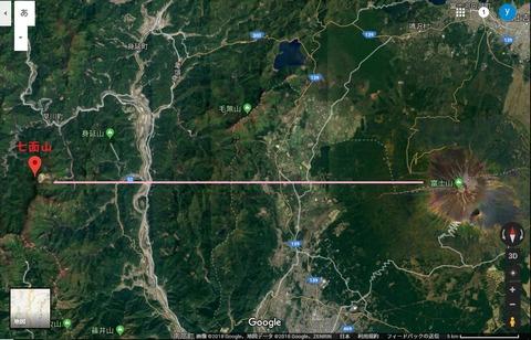 七面山地図