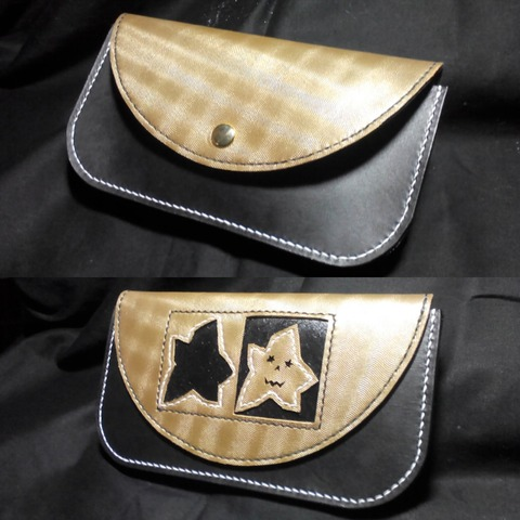 《lLunar Bop》Handmade leather wallet。