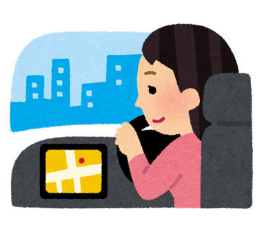 車を運転をしている女性