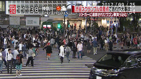 渋谷 暴走車