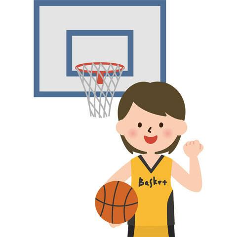 バスケを頑張る女の子
