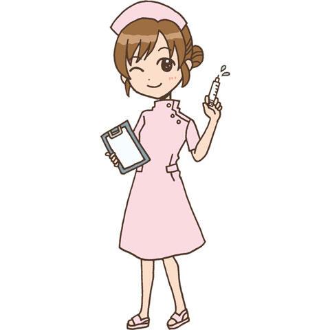 注射器を持った女性看護師