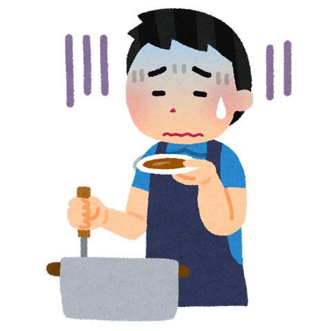 料理を失敗した人