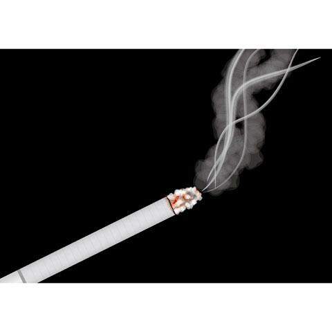 火のついたタバコ