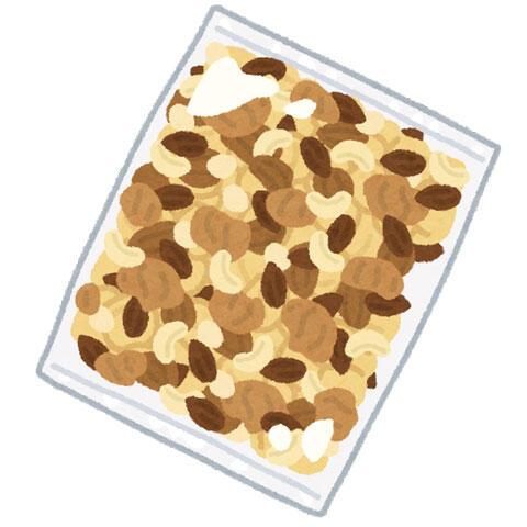 袋に入ったナッツ(ミックスナッツ)