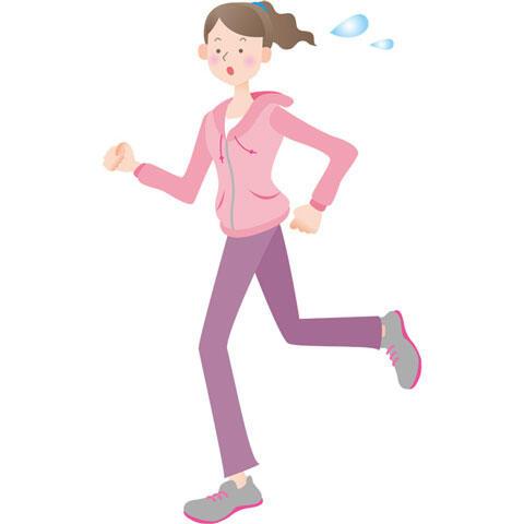 走る 女性