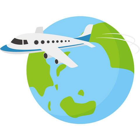 地球と旅客機