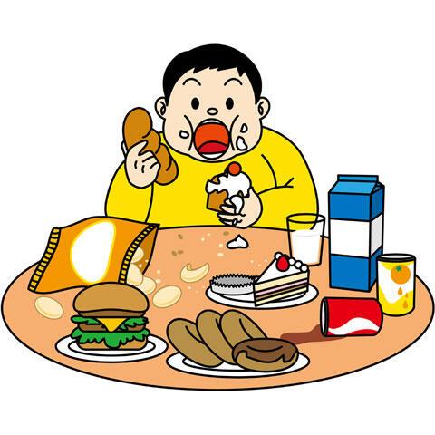 食欲が止まらない肥満の少年