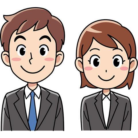 スーツ姿の男女の社員