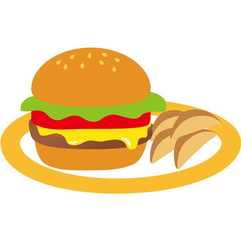 ハンバーガー フライドポテト