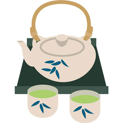 急須と緑茶
