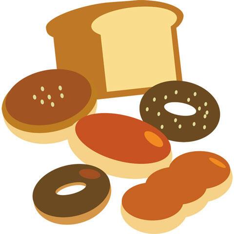 ドーナツや食パンなどのパン