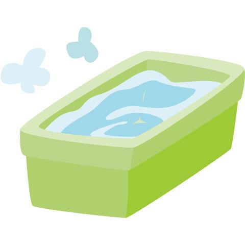 お湯が張られた浴槽