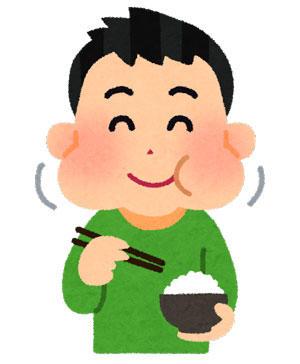 ご飯を食べている男の子