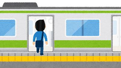 電車の乗り降りをする人