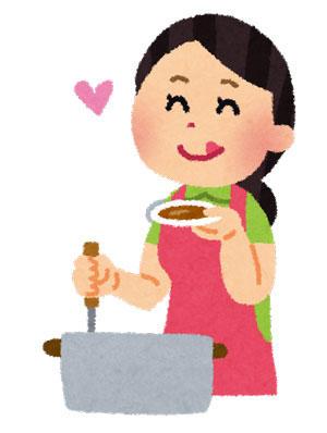 料理 味見をする女性