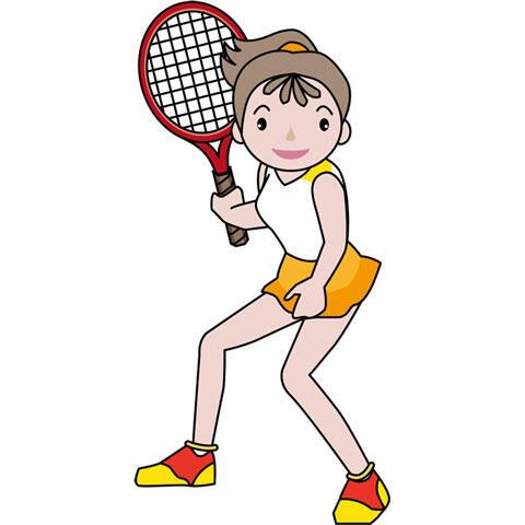 女子テニスプレイヤー