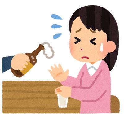 お酌を断るお酒が苦手な女性