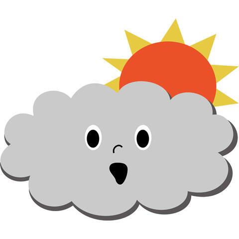 太陽を隠す雲