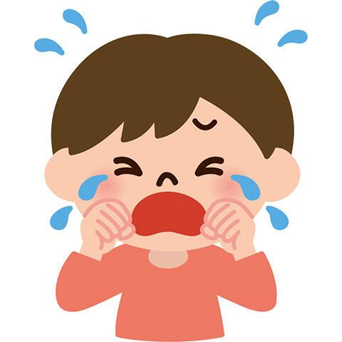 泣く 子供