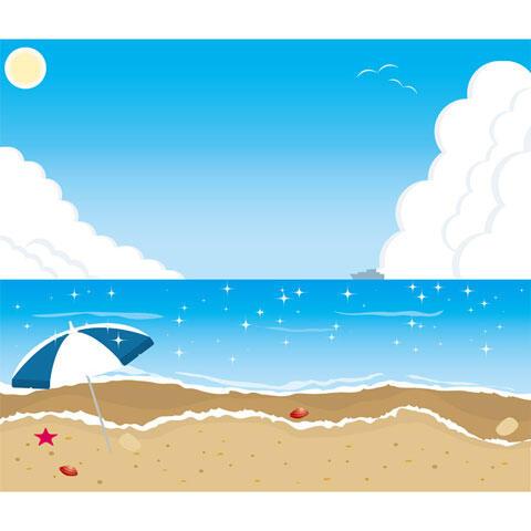 海 パラソル ビーチ