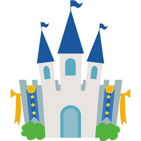 テーマパークのお城