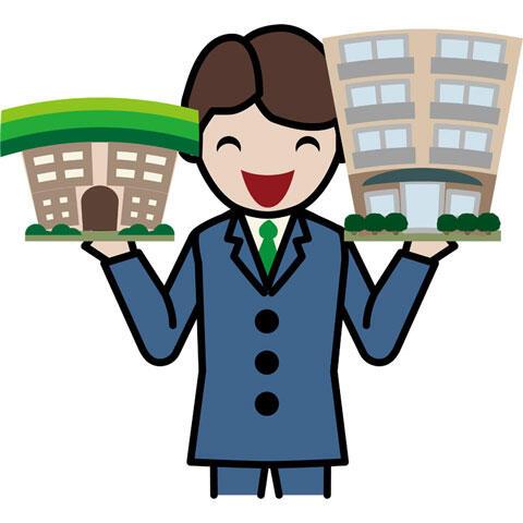 物件を紹介する不動産屋の店員