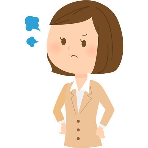 不満が溜まる女性会社員